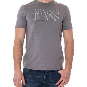 Armani Jeans Men's Grey Crew Neck T-Shirt